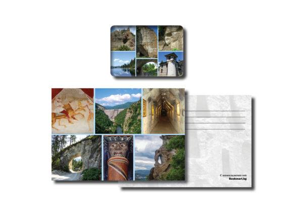 Магнит с картичка с изгледи от Родопите